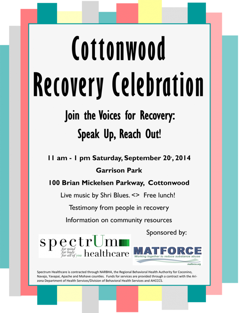 Cottonwood Recovery Celebration 2014-2