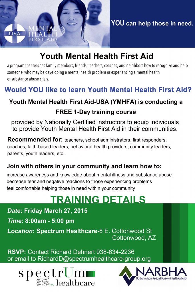 Youth Mental Health First Aid Free Training Spectrum Healthcare